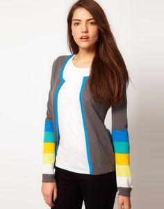 Vero moda cardigan with striped sleeve