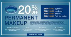 Right now, get 20% off permanent makeup!