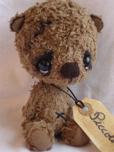 Piccolino Open Edition Order your by UnOursonsurLaLune on Etsy Vintage Teddy Bears, My Teddy Bear, Cute Teddy Bears, Love Bear, Bear Doll, Little Doll, Softies, Needle Felting, Cuddling