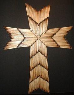 Christian Crafts: Burnt Matchstick Cross
