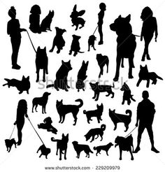 how to draw a dog silhouette