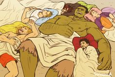 AVENGERS - sleepover by FerioWind on DeviantArt