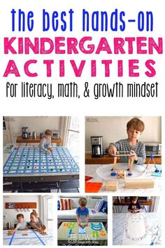 Kindergarten Activities to engage play and spark learning. Inside find Kindergarten literacy activities, Kindergarten math activities and ways to improve growth mindset. Play Based Learning, Home Learning, Learning Through Play, Toddler Learning, Kids Activities At Home, Educational Activities, Learning Activities, Indoor Activities, Summer Activities
