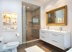 tile work and vanity        Riverdale Renovation - contemporary - bathroom - toronto - post Architecture