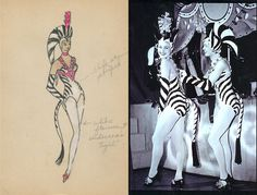 "The #Rockettes earned their stripes after donning this exotic zebra costume from the 1953 show ""Santa's Circus."" #WardrobeWednesday"