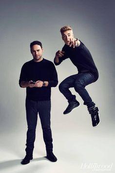 Justin bieber and Scooter braun