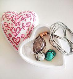 DIY Gemstone and Macrame Necklace