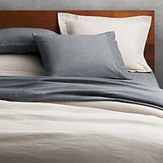 View larger image of weekendr ivory chambray full/queen duvet cover