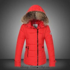 8aedfc1ab7a1 Wholesale Moncler Down Winter Jackets For Women Red Fur Hooded Best Winter  Coats