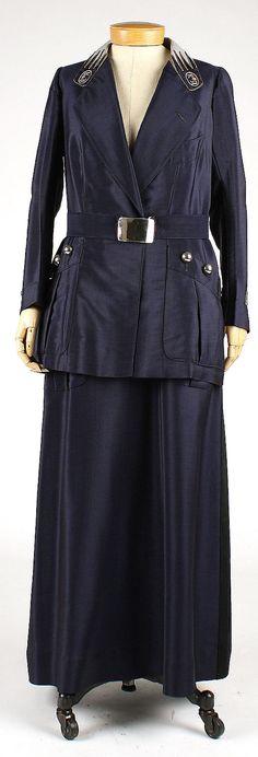 Uniform with Bergdorf Goodman label, circa 1914.