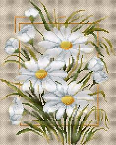 Thrilling Designing Your Own Cross Stitch Embroidery Patterns Ideas. Exhilarating Designing Your Own Cross Stitch Embroidery Patterns Ideas. Cross Stitch Kits, Cross Stitch Charts, Cross Stitch Designs, Cross Stitch Patterns, Cross Stitching, Cross Stitch Embroidery, Embroidery Patterns, Daisy, Cross Stitch Flowers