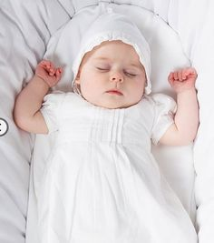 New Cotton Christening Robe and Bonnet from Emile et Rose.  Fab Price for such a great Robe.