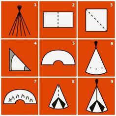 Maak je eigen tipi tent voor in de kinderkamer met deze stappen!