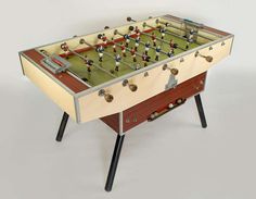 1950's French Foosball Table | From a unique collection of antique and modern game tables at http://www.1stdibs.com/furniture/tables/game-tables/