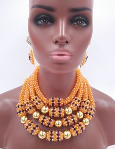 Find More Jewelry Sets Information about chunky orange ab crystal beaded nigerian traditional wedding jewellry african beads jewelry set LSN011,High Quality jewelry hardware,China jewelry hanger Suppliers, Cheap jewelry dropship from Alisa's Jewelry DIY Store on Aliexpress.com