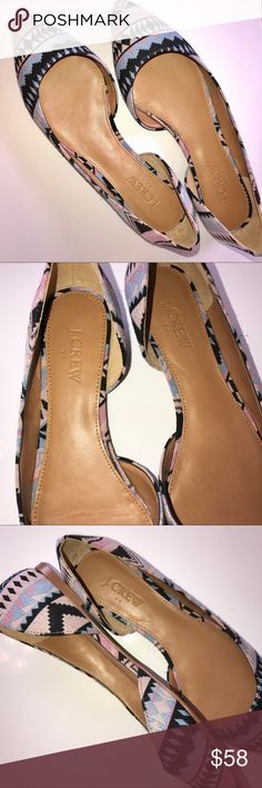 NWT J CREW - Aztec Print D'Orsay Flats - Sz. 8 Brand new J. Crew Aztec D'Orsay Flats in size 8. Perfect condition. Never worn, only tried on. Fabric upper. Reconstituted leather sole. True to size. J. Crew Shoes Flats & Loafers