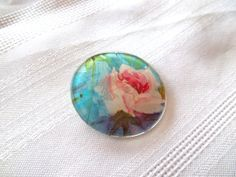 Vintage Eye Glass Rose Pin Brooch by LakesideHaven on Etsy, $6.00 Made from the lens of eye glasses!