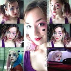 Harley Quinn cosplay makeup test!! #harleyquinn #suicidesquad #dccomics #makeup #cosplaymakeup #harleyquinncosplay