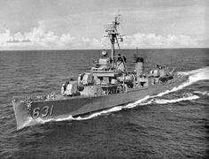 USS Erben, a Fletcher Class destroyer, built by Bath Iron Works in Bath, Maine and launched in 1943.