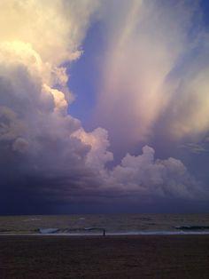 Sand, sea, clouds...