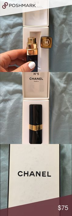 Chanel no 5 perfume spray-SUPER REDUCED 🔥🔥🔥 Timeless scent from Chanel... Great to travel with and put in any size bag- used only once CHANEL Makeup