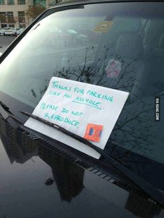 Geek Discover Funny pictures about Dealing with bad parking. Oh and cool pics about Dealing with bad parking. Also Dealing with bad parking. Funny Shit, The Funny, Funny Jokes, Funny Fails, Funny Stuff, Funny Laugh, Bad Parking, Parking Space, Parking Tickets