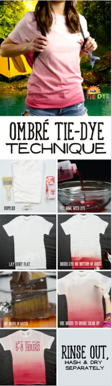 DIY this ombre shirt with Tulip One-Step Tie-Dye in no time!