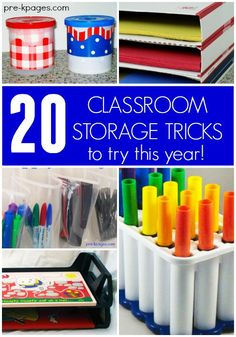20 Classroom Storage Tricks for Preschool and Kindergarten. 20 classroom storage ideas to try this year in your preschool, pre-k, or kindergarten classroom!