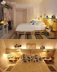 62 Creative Recycled Pallet Beds in Which You'll Never Want to Wake up DIY Pallet Beds, Pallet Bed Frames & Pallet Headboards