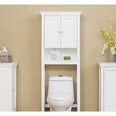 ideas bathroom shelves over toilet cabinets towel storage for 2019 Over The Toilet Cabinet, Bathroom Shelves Over Toilet, Bathroom Cabinets, Bathroom Wall, Small Bathroom, Toilet Storage, Bathroom Storage, Bathroom Ideas, Cabinet Shelving