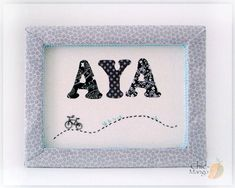 Personalized Wall Art , New Baby Girl Gift Idea , Customized Name Sign , Kids Room Decor , Bicycle Room Design , Gray Nursery Wall Art, AYA