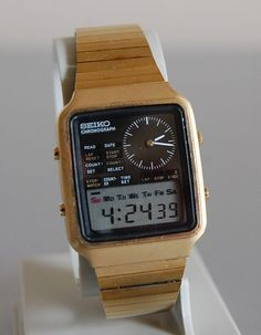 Vintage 1970s Seiko Chronograph Digital Wristwatch H127-5000 - The Aristocratic Jumble Sale - watches for men on sale online, gold mens watch cheap, bulova watches *ad
