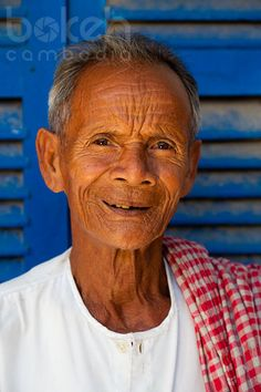 Portrait of an old Khmer man   Takeo Province, Cambodia
