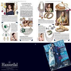 #CeremonialStunners- Grab your copy now !  #HazoorilalBySandeepNarang @bazaarbridein #HazoorilalPressRelease #BridalJewellery #BridalCollection #ItcMaurya #DlfEmporio #HazoorilalJewellersGK #Hazoorilal