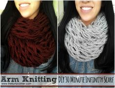 The Kurtz Corner: Arm Knitting - DIY 30 Minute Infinity Scarf
