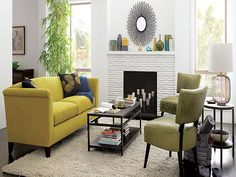 Yellow living room furniture ideas