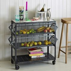A strong and stunning industrial inspired trolley unit with a decadent solid marble slab. Perfect for both storage and portability. Metal Industrial, Industrial Bookshelf, Industrial Apartment, Industrial Bedroom, Industrial Living, Industrial Interiors, Industrial Furniture, Kitchen Furniture, Industrial Style