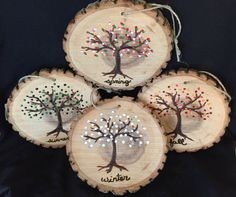 Four Seasons Wood Wall Hangings by KraftyKreationsNY on Etsy