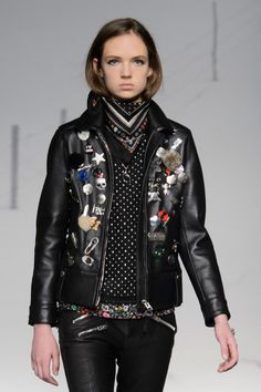 The Best Fall 2015 Runway Pieces From NYFW: Day 1 - The leather bomber with embellishments at Coach