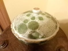 Vintage Fujita Kutani Green footed with lidded by Morethebuckles