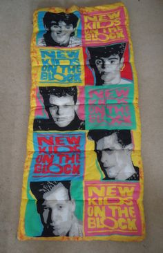 I proudly owned and LOVED this thing!!!  90s Vintage New Kids on the Block Sleeping Bag on Etsy, $75.00