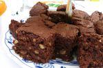 Frambozen-brownies met noten recept op MijnReceptenboek.nl