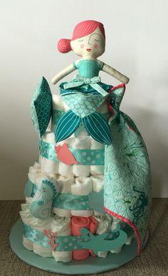Mermaid Diaper Cake