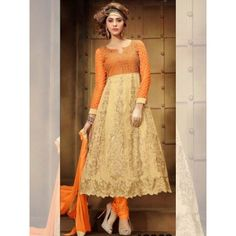 Astounding Embroidery Work Designer Suit Comes With Top-Banglori Silk work ,Slives and Flaier net work, Dupatta- naznin