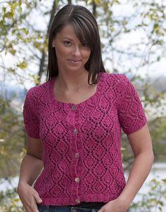 Ravelry: Cascade Luna - All Over Lace Cardigan pattern by Vera Sanon