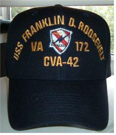 748ac8bfdcc USS FRANKLIN D. ROOSEVELT CVA-42 w VA 172 CREST Custom made ball. Military  HatsBall ...