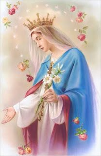Our faithful Valentine companion, the Queen of Roses…Blessed Mother Mary.