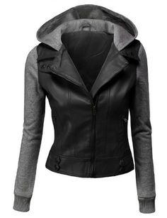 Doublju Women's Double Layered Hooded Faux Leather Jacket, http://www.amazon.com/dp/B00KR63NYC/ref=cm_sw_r_pi_awdm_skJjub13TBKA4