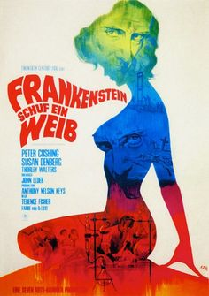 Frankenstein Created Woman (1967) – Poster by Klaus Dill
