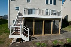 Trex Deck and Under Deck Screen Room in Lake County built by Rock Solid Builders, Inc.